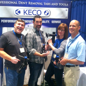 Keco Glue Tabs Crew at Trade Show MTE