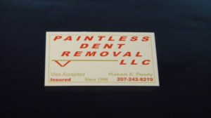 Small Dent Removal Augusta Maine