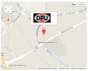 Greenville hail repair Google Map